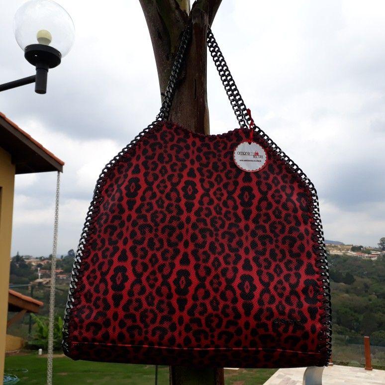 Bolso de hombro sintético con estampado de jaguar