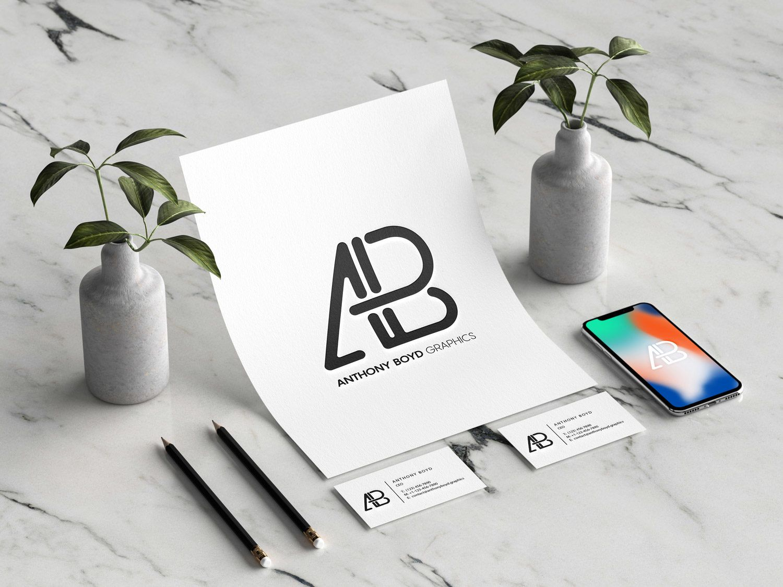 Modern Branding Identity Mockup Tarjetas de presentación