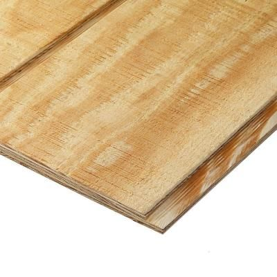 Plytanium Plywood Siding Panel T1 11 8 In Oc Common 19 32 In X 4 Ft X 8 Ft Actual 0 563 In X 48 I Plywood Siding Wood Siding Exterior Wood Panel Siding