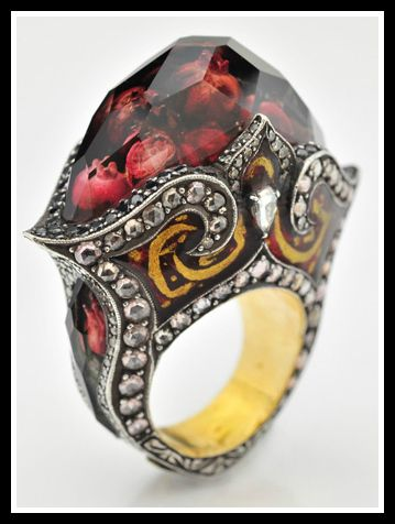 Ring by Sevan Bıçakçı. Via Diamonds in the Library.