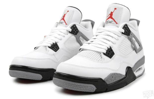 white cement jordan 4s