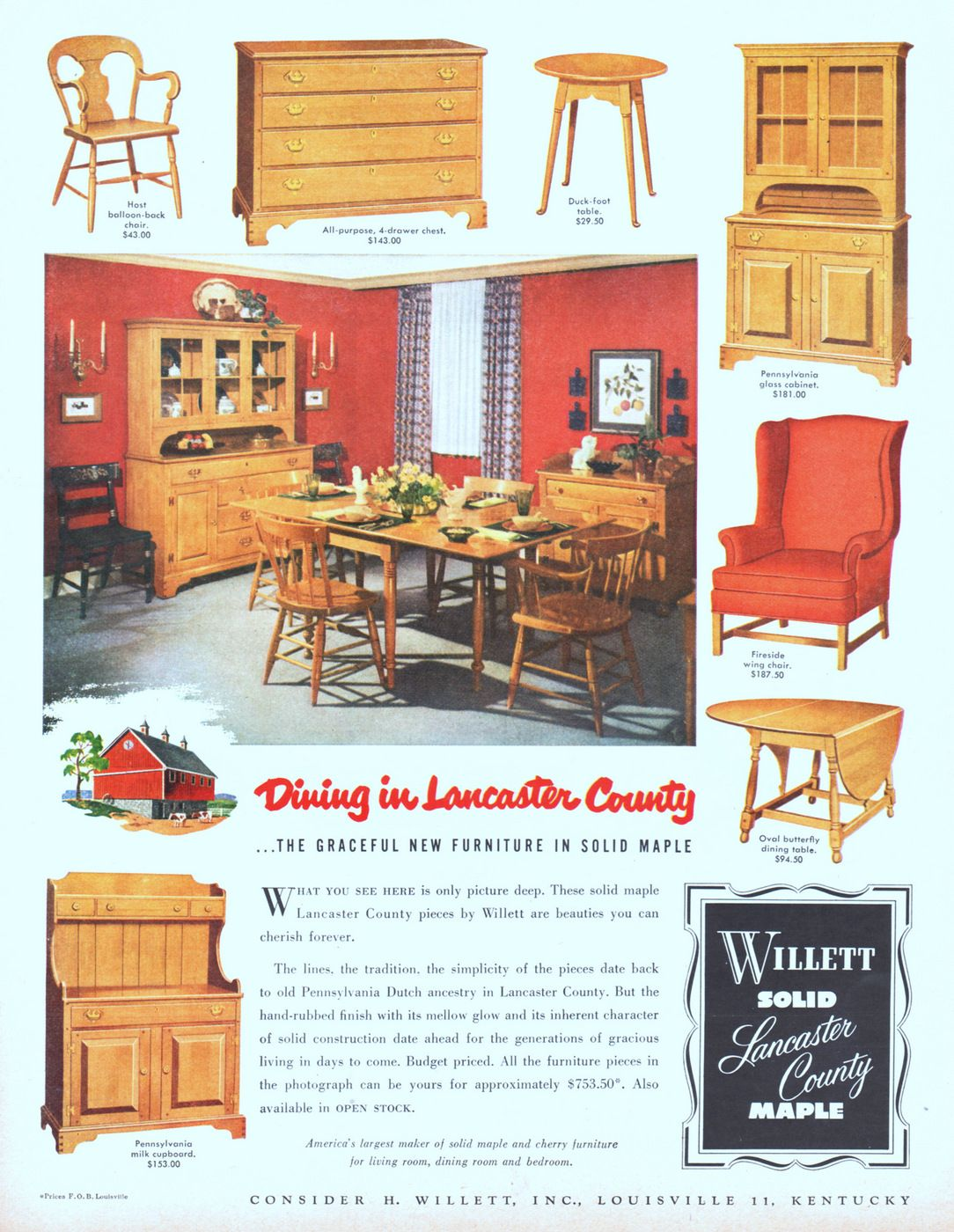 Pin By Susan Salmons On Willett Maple Furniture | Pinterest | Furniture,  Maple Furniture And Lancaster County