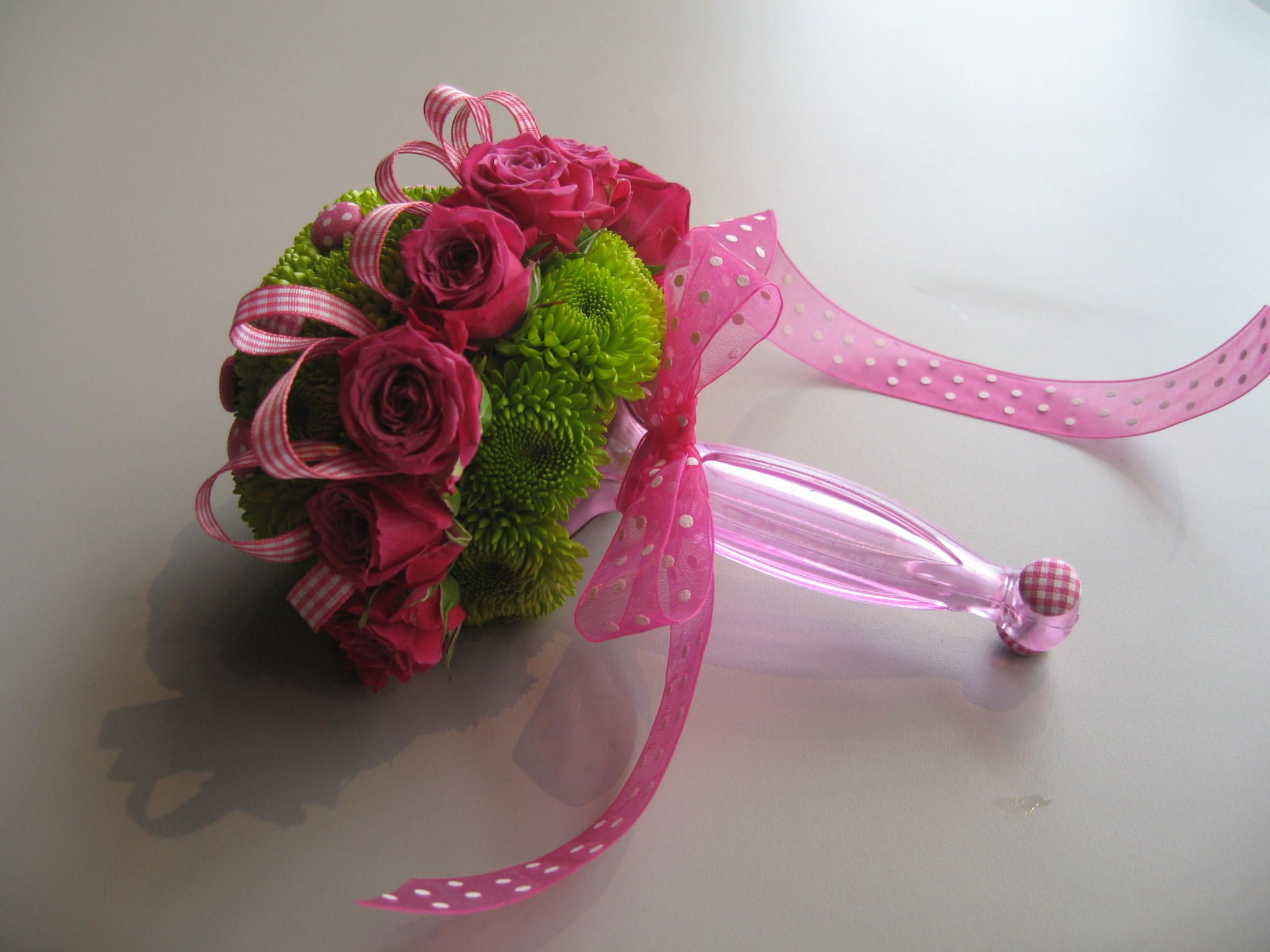 Baby rattle bouquet this was made using the gala bouquet holder baby rattle bouquet this was made using the gala bouquet holder and designmaster izmirmasajfo