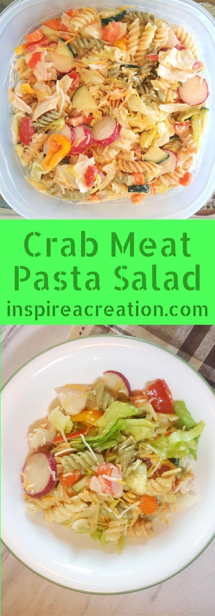 Crab Meat Pasta Salad | Recipe in 2020 | Easy pasta salad ...