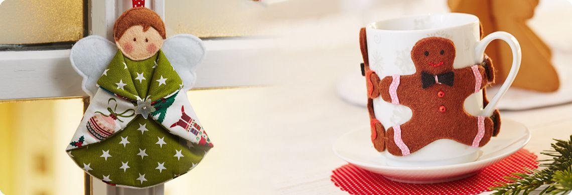 viele schöne Schnittmuster kostenlos auf LIDL.DE  Engel und Tassenmanschette