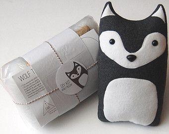 fabric animals wolf craft