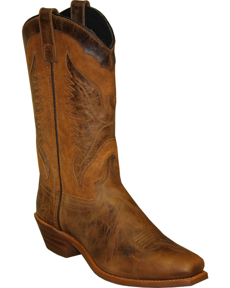 Abilene Mens Sage by 11 Cowhide Western Boot Square Toe