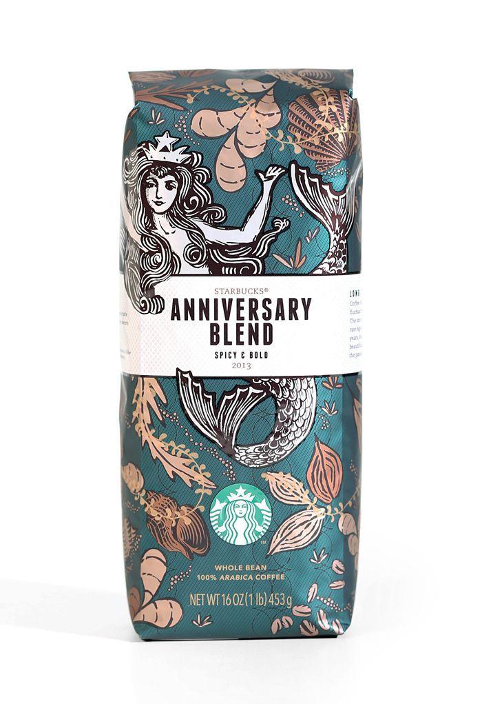 Starbucks Anniversary Blend Packaging design inspiration