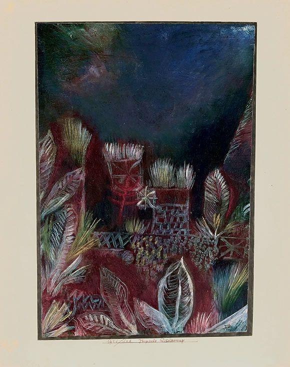 Paul Klee / Tropical Twilight / 1921 / oil on white primer on paper on cardboard