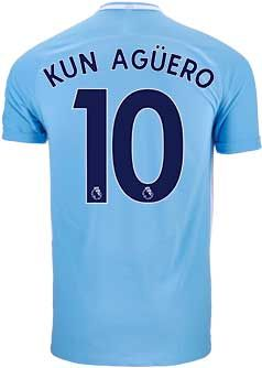 22f2458ce 2017/18 Nike Aguero Manchester City Home Match Jersey. Buy it from SoccerPro .