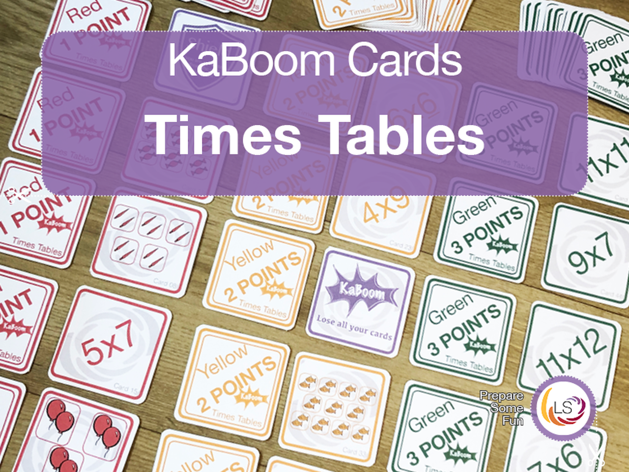 Times Tables Kaboom Cards In With Images