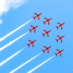 Red Planes White Smoke Blue Sky Clickasnap Royal International Air Tattoo Air Tattoo Blue Sky