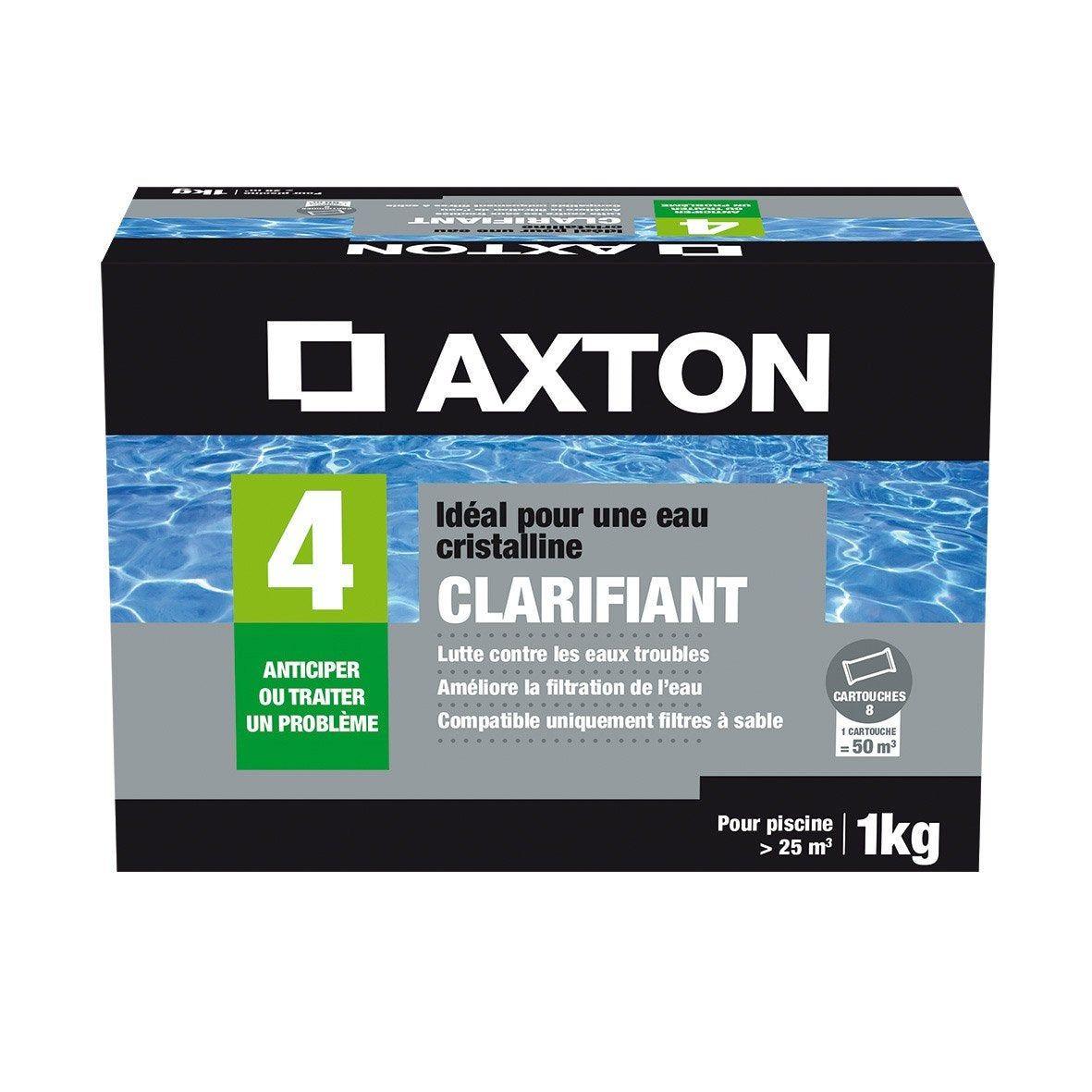 Clarifiant Piscine Axton Tube 1 Kg Traitement Des Eaux Piscine Filtre A Sable