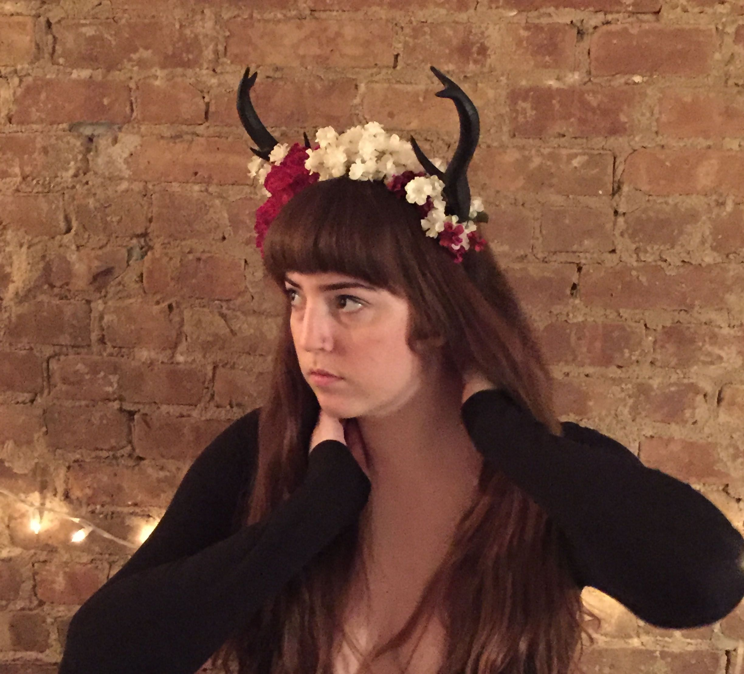 A Lovely 3d Printed Antlersflower Crown Combo Comissioned By A