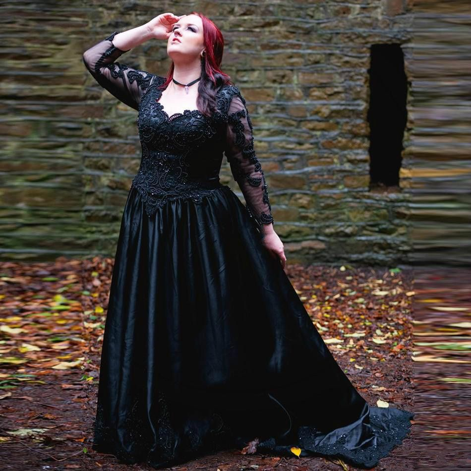 Dress Hangings Picture More Detailed Picture About Vintage Gothic Wedding Dresses A Lin Gothic Wedding Dress Black Wedding Dress Gothic Black Wedding Dresses [ 950 x 950 Pixel ]