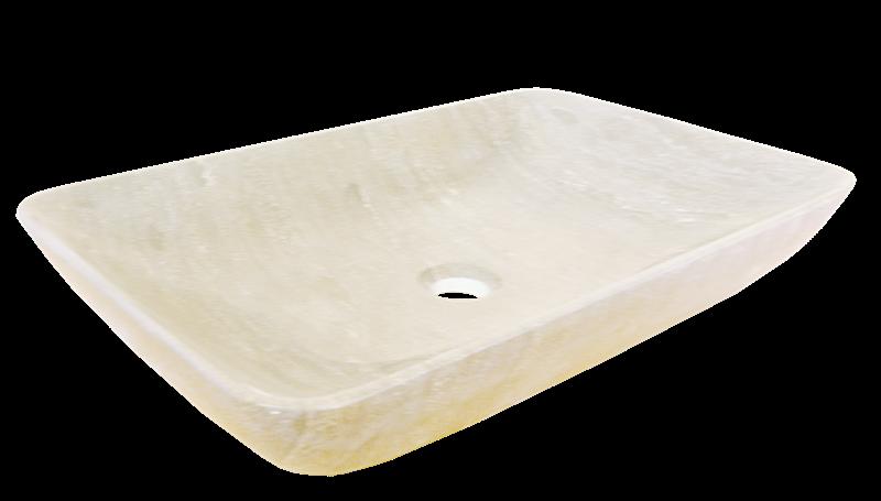 Umývadlo na dosku Lapis 60x38 cm, bez prepadu