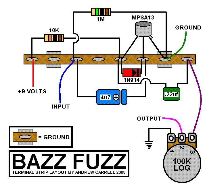 Fuzzy pedal ez diy guitar pedal guitar pedals circuit