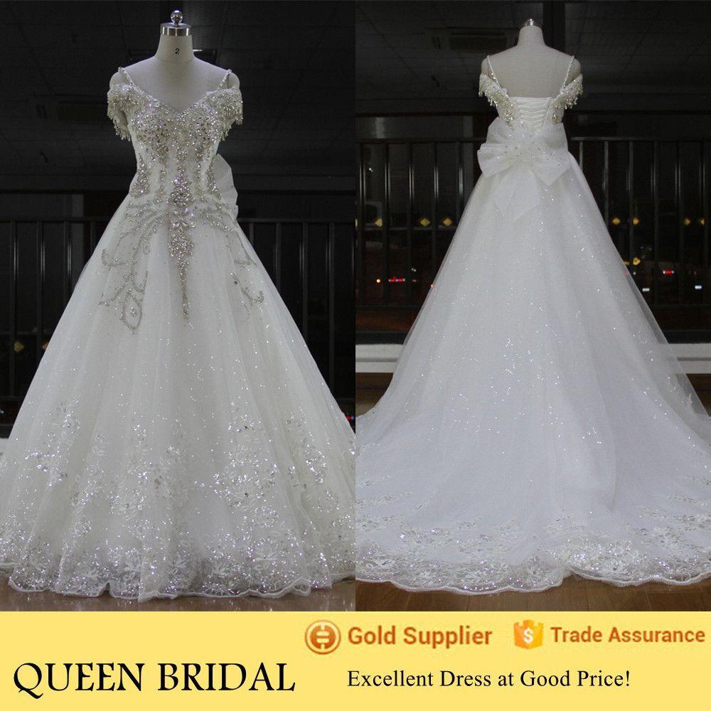 Newest Real Sample Cap Sleeve Turkish Crystal Rhinestone Wedding ...