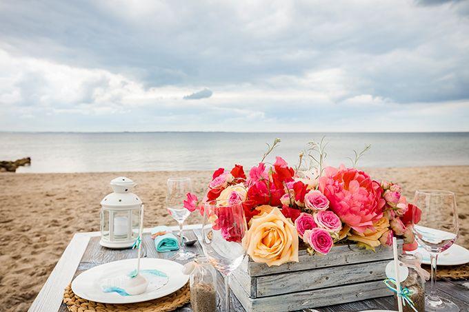 Beach Wedding Table Decoration  - Im Hochzeitsfieber and Christina Eduard Photography