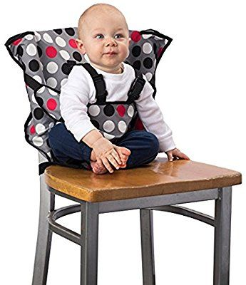 Cloth Portable High Chair Chairsupply Zwaag Amazon Com Cozy Cover Easy Seat Chevron Quick Convenient Travel Fits In Your Hand Bag For A Happier