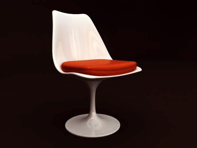 Chair Saarinen 3d Max ModelModeling Disenos Tulip Eero ULSpGqVMz