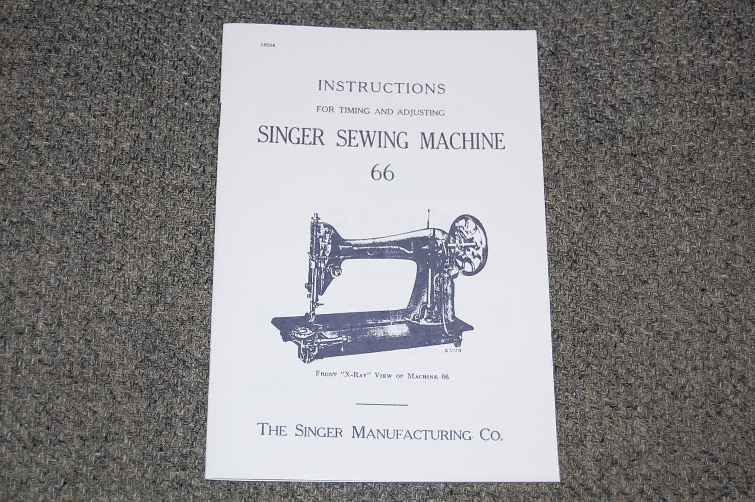 Sewing Manuals and Instruction 41246: Singer Adjusters Manual To Time,  Adjust, And Service