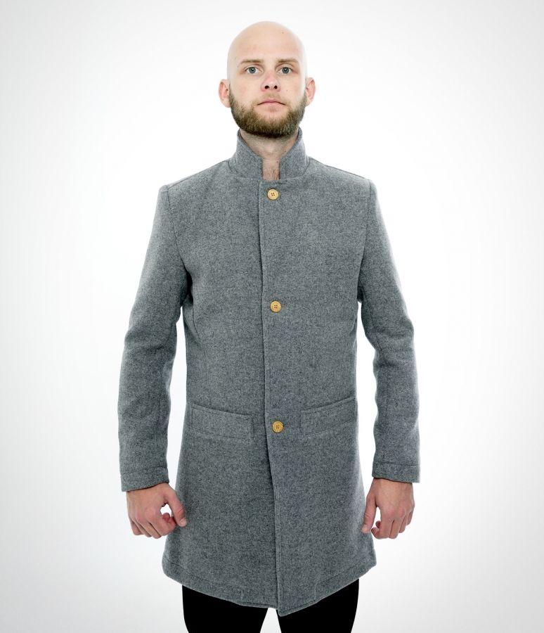 Bankers Trench Coat - Grey wool - Jackets - Han Kjøbenhavn