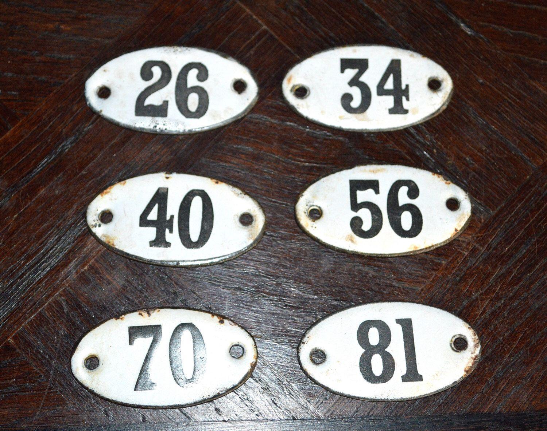 Vintage French Enamel Number Signs Plaque Vintage Supplies Old Number in Black & White by VintageFleaFinds on Etsy https://www.etsy.com/listing/180083841/vintage-french-enamel-number-signs