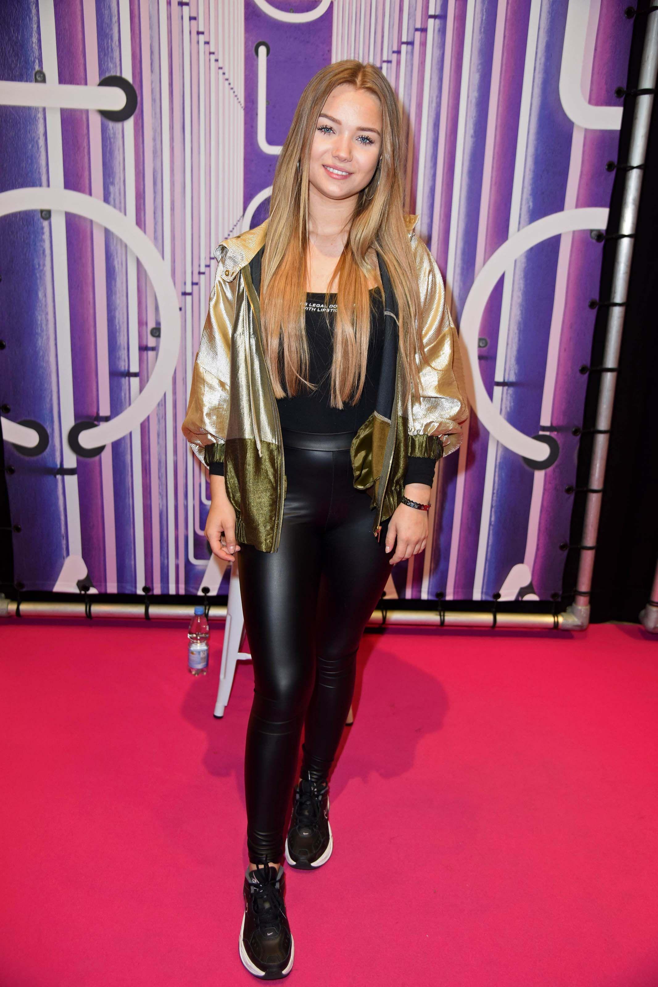 Activewear sale workwear sale fan shop sale accessories sale. Julia Beautx attends GLOW | Lederhose, Leder, Hosen