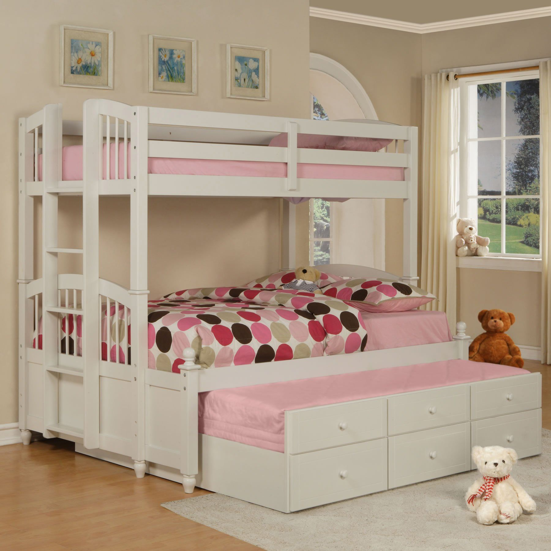 This is perfect for the girls Love it Storage bed for both
