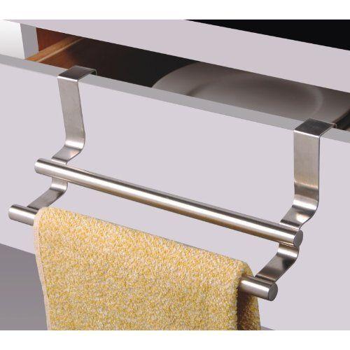 Geschirrtuchhalter, Handtuchhalter, Halter mit zwei Leisten