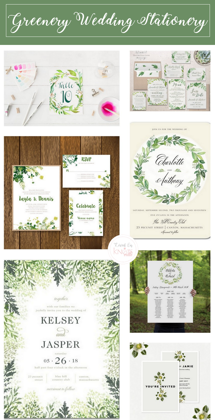 Greenery Wedding Stationery Greenery wedding, Wedding