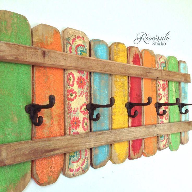 Rustic Home Decor Coat Rack Handmade Reclaimed Wood Bohemian