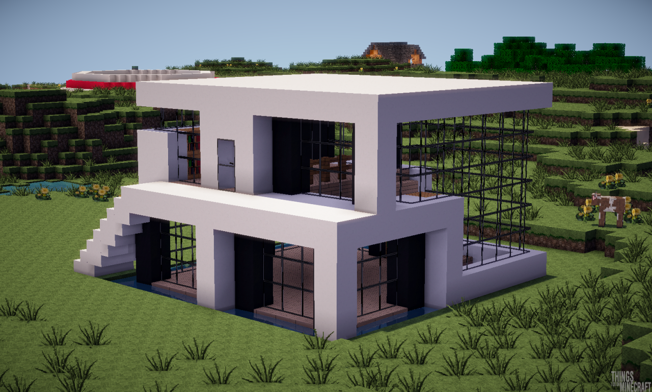 Modernes haus minecraft pinterest moderne h user for Minecraft haus modern