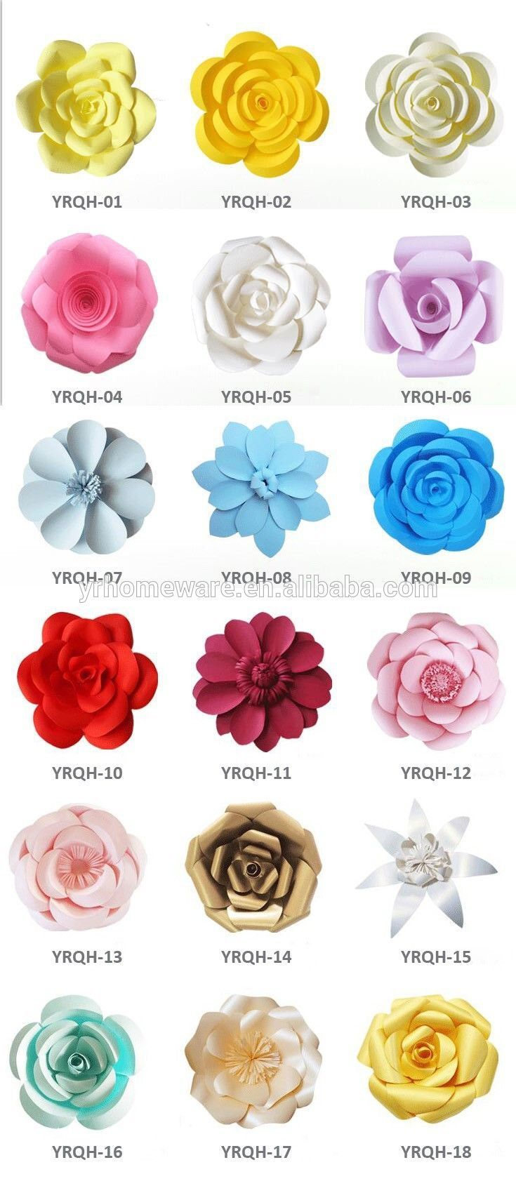 Wedding decorations paper flowers  Paper flower wall decoration wedding decoration paper flower
