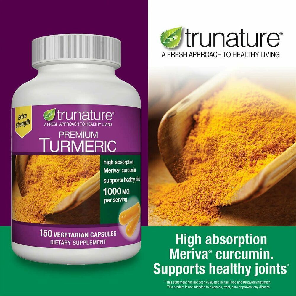 Trunature Premium Turmeric 1000 Mg 150 Vegetarian Capsules