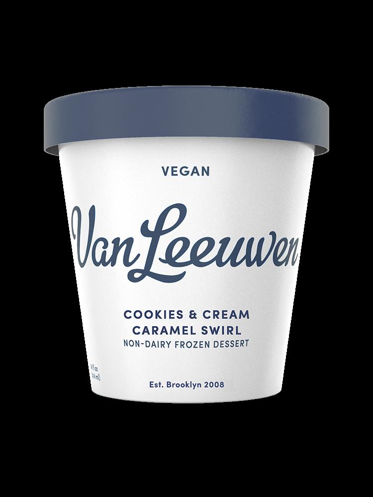 Van Leeuwen Ice Cream Vegan Cookies Cream Caramel Swirl In 2020 Cookies And Cream Vegan Cookies Ice Cream