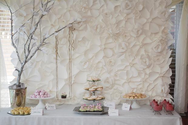 secret garden baby shower, baby girl pink mousse, cookies, russian tea cakes, secret garden party dessert table ideas, beautiful dessert table
