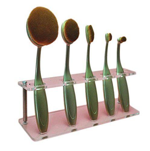 Vovotrade 5 Hole Microscler Makeup Brush Holder Drying