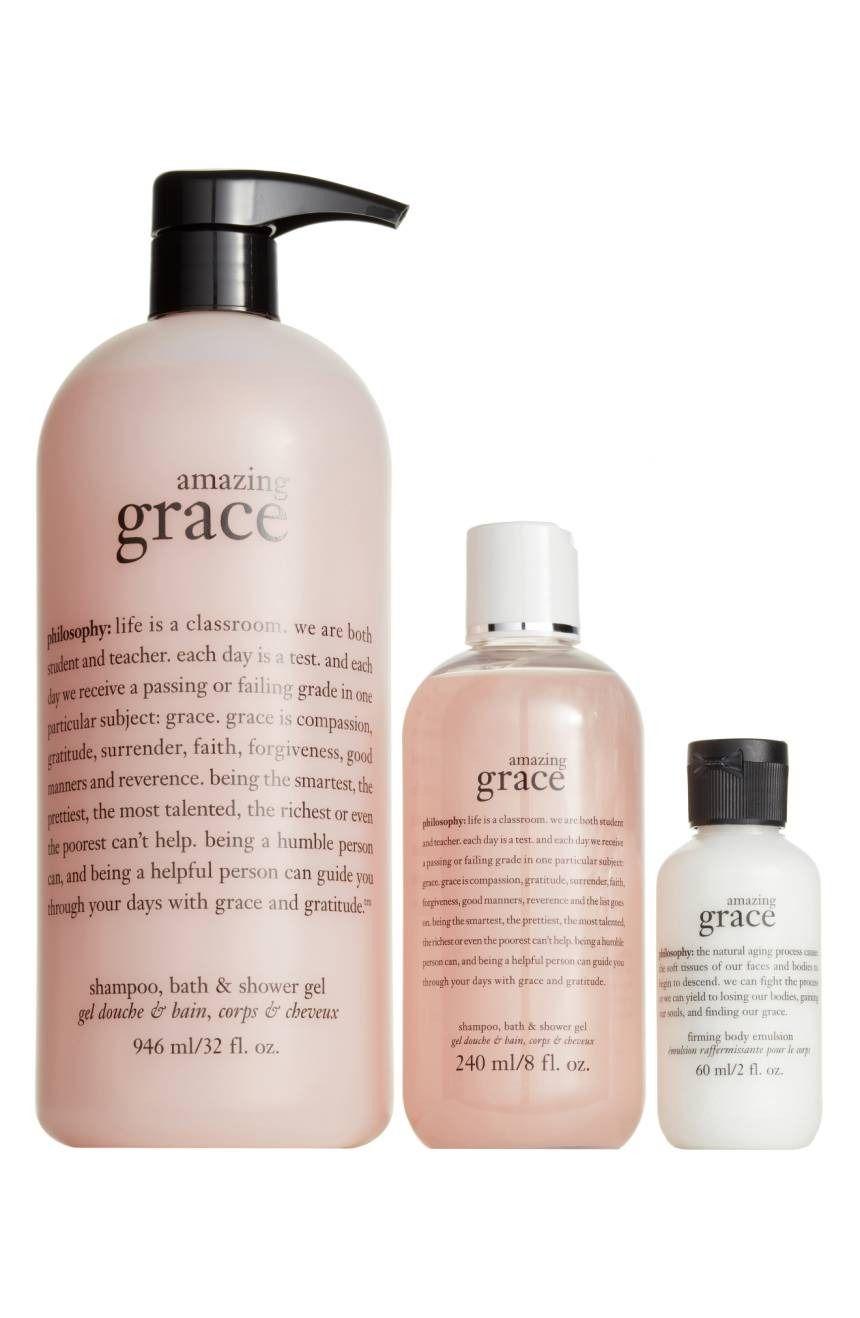 Philosophy Amazing Grace Trio Nordstrom Exclusive Usd 61 Value Nordstrom Philosophy Amazing Grace Soften Dry Skin Amazing Grace
