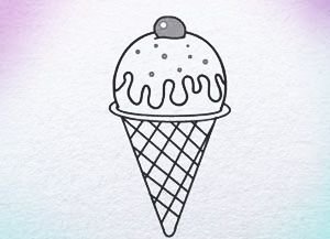 how to draw ice cream step by step for kids drawing website | www ...