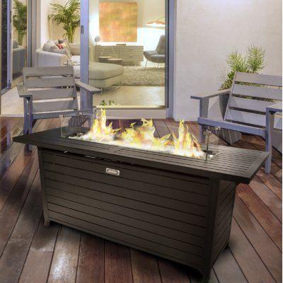 Sunbeam Aluminum Propane Natural Gas Fire Pit Table Fire Pit