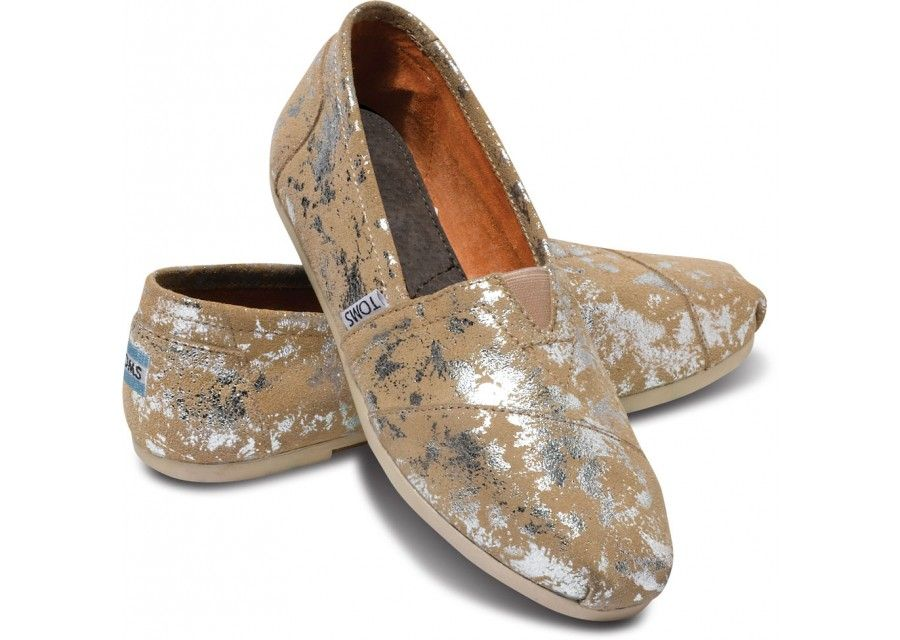 TOMS+ Sand Brushed Metal Women's Classic  hero- I have no idea how I feel about these