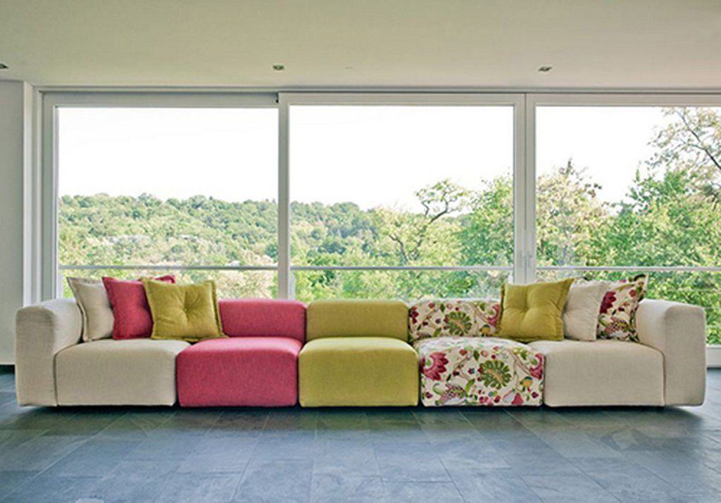Great Comfortable And Flexible Modular Sofa With Bright Colors, Peahi By .