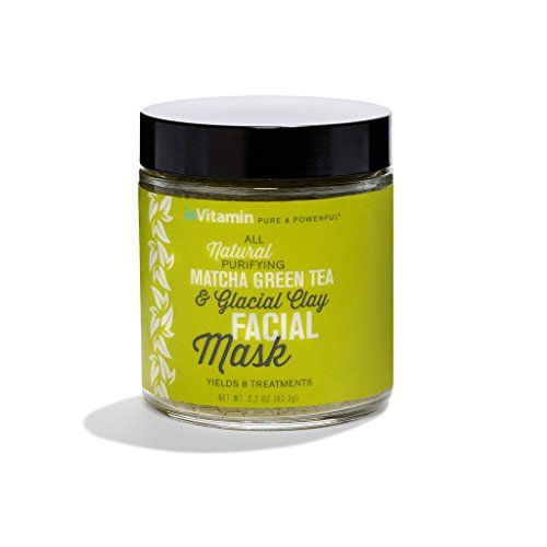 Photo of inVitamin All-Natural Matcha Green Tea & Glacial Clay Facial Mask (2.2oz)- Nourishing chemical-free facial mask that detoxifies and exfoliates skin. Helps treat blackheads and problematic skin