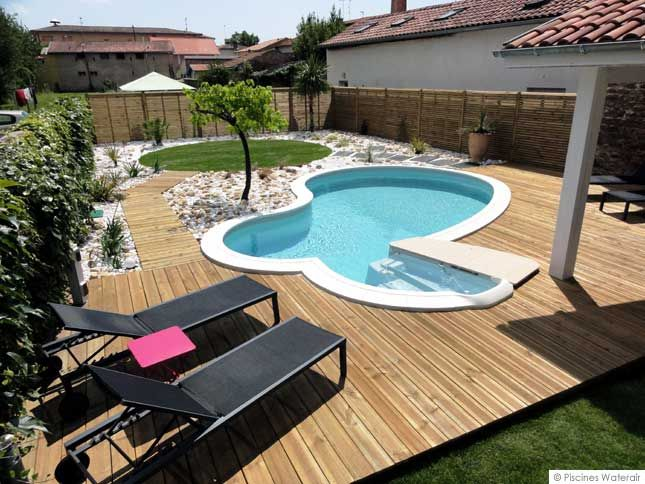 petite piscine bien quip e avec escalier baln o piscines waterair piscines pinterest. Black Bedroom Furniture Sets. Home Design Ideas