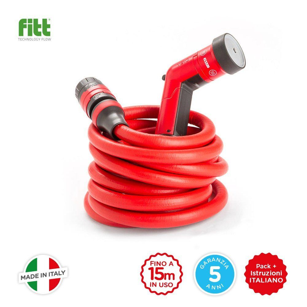 YoYo 15 mt, The Extendable Garden Hose 7.5 to 15 Meters