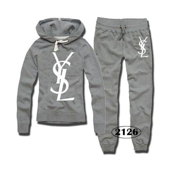 61b59511 YSL Women Logo Print Tracksuits/Sport Suits/Sweat Suit,IC19303149141 ❤ liked  on Polyvore featuring activewear, sweat suit, track suit, sports activewear  ...