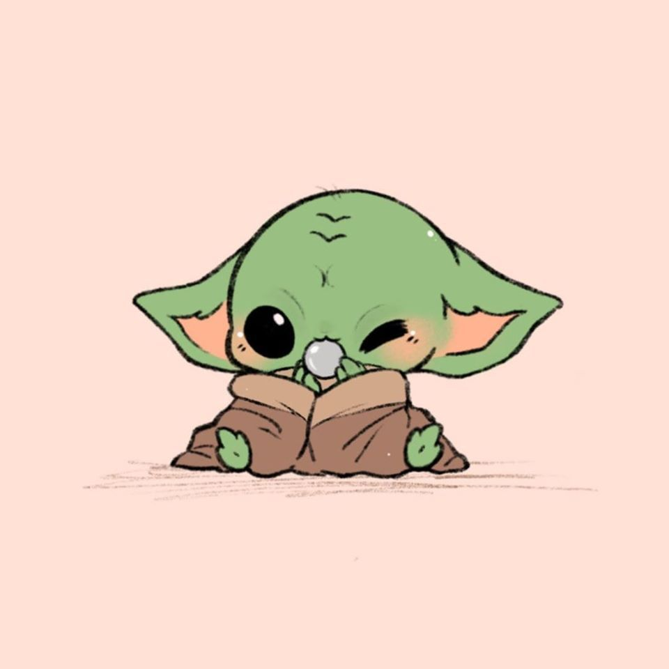 Baby Yoda Chibi Fan Art in 2020 Cute cartoon drawings