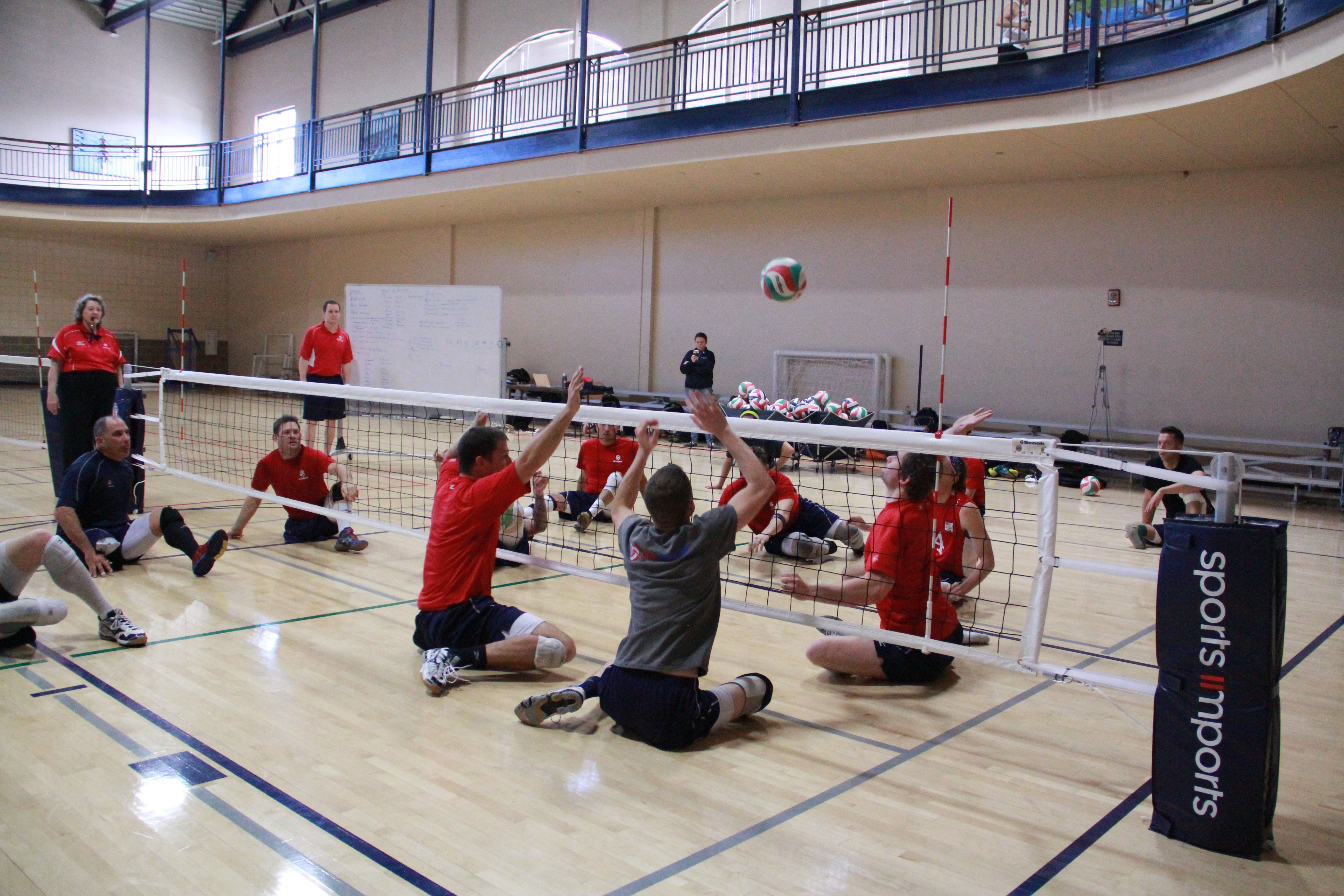 U S A Men S Sitting Volleyball Practice Sports Imports Volleyball Equipment Volleyball Equipment Volleyball Practice Volleyball